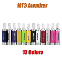 Wholesale Mt3 Cartomizer Electronic Cigarette - EVOD MT3 2.4ml Atomizer Cartomizer Clearomizer for eGo Evod Carbon Vision spinner 2 3 Battery Electronic Cigarette colorful
