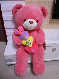 Wholesale Taidi Bear - 2016 Genuine hug teddy bear urso de pelucia plush toys 70cm Children Ai Taidi Scarf Scarf Bear Teddy Bear Gift Plush