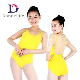 Wholesale Low Cut Leotard - Free shipping Adult U low back ballet dance leotards A2032 wholesale discount dancewear women ballet dance wear