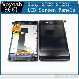 Wholesale St23i Touch - For Sony Ericsson Xperia Miro ST23 ST23i LCD Display and Touch Screen Digitizer Panel Wtih Frame Free Shipping