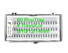 Wholesale Eyelash Flares - Wholesale-Luxury knot free 8 10 12 14mm 4 trays lot individual lashes flare lashes eyelashes extension