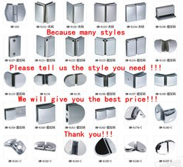 Wholesale Shower Clamps Hinges - 135 degree glass door clamp HM - 302 copper Plated chrome shower glass hinge 2 pieces