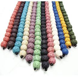 Doğal Renkli Lava Kaya Taş Boncuk Spacer Gevşek Strand DIY Kolye Bracelats Moda Takı Yapımı Için 8mm Bilezik D212S nereden
