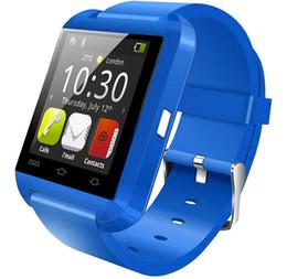 Smartwatch u8 dhl online-Bluetooth Smartwatch U8 U Uhr Smart Watch-Armbanduhren für iPhone Samsung HTC Android Smartphones für Geschenk mit DHL-Versand