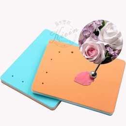 Wholesale Gum Paste Cake - Wholesale- cake tools size 5 hole sponge pad sugar flower style foam fondant mat for gum paste rose peony
