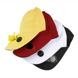 Wholesale Cooling Fan Hat - Wholesale-Summer Sport Outdoor Hat Cap with Solar Sun Power Cool Fan For Cycling new arrival