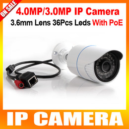 Wholesale Ip Camera Outdoor 3mp - High Quality 1 3'' OV4689 Sensor Bullet Outdoor IP Camera POE 4MP 3MP With 36Pcs Leds IR 20m CCTV Cameras Support Onvif & P2P Cloud View