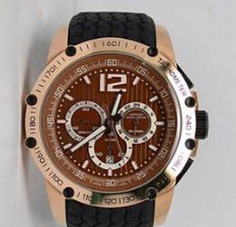 Wholesale Chronometer Quartz - Fashion Rose Gold Racing Miglia Grans Turismos XLS Mens Quartz Sport Watches Stopwatch Chronometer Rubber Buckle Men Luxury Wristwatch Sale
