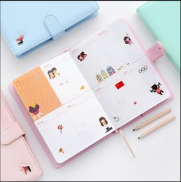 Wholesale Schedule Book - Wholesale- Nnew Arrival Weekly Planner Sweet Notebook Creative Student Schedule Diary Book Color Pages School Supplies No Year Limit