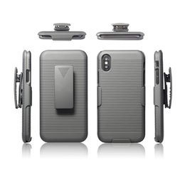 Wholesale iphone swivel cases - 2 in 1 For iphone X case Swivel Belt Clip hybrid Holster Stand Phone Cases For iphone X 6 7 8 plus DHL free shipping SCA373