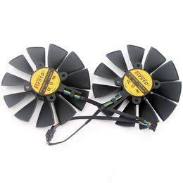 Asus ventiladores de resfriamento on-line-Original para ASUS STRIX GTX970 980 780 Graphice cartão de ventilador de arrefecimento FD9015U12S 12V 0.55A