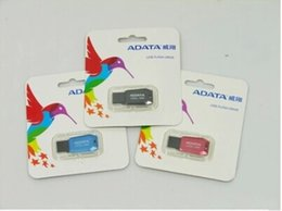 Wholesale Adata 256gb Flash Drive - New 2017 For ADATA 128GB 256GB USB 2.0 Flash Memory gift Drive Stick Drives Sticks Pendrives Thumbdrive Disk 40pcs