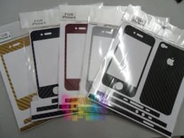 Canada 50pcs / lot * Motif peau de serpent Premium fibre de carbone style Style vinyle Decal Skin Kit pour Iphone 6 plus 6 5s 4s 5 4 Offre