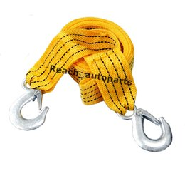 Wholesale Trailers For Towing Cars - 3M 3Ton New Nylon Tow Wire Rope For Heavy Duty Car Trailer Yellow