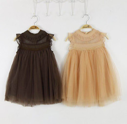 Wholesale Dressed Bottles - 2016 Summer New Girl Dress Lace Princess Dress Girl Gauze Sundress Children Clothing 2-7T 8686