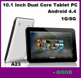 Wholesale Android Tablet Pc Arm - Cheapest 10 10.1 Inch Dual Core Tablet PC A23 Android 4.4 1GB RAM 8GB Storage Wifi Dual Camera Skype ARM Cortex A7 1.5GHz 10.2'' Retail