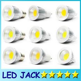 Wholesale E14 Dimmable Super Bright - Super bright COB GU10 Led 5W 7W 9W bulbs light 60 angle dimmable E27 E26 E14 MR16 led spotlights warm pure cool white 110-240V 12V