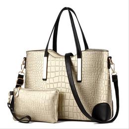 Wholesale Man Leather Handbag Black Big - Wholesale-New 2016 designer women bags leather handbag big shoulder bags ladies brand Crossbody bag Handbag+Messenger Bag+Purse 2 Sets