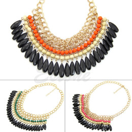 Wholesale Big Chunky Bubble Necklace - Wholesale-New 3 color hot Arrival big gem necklaces& pendants Trendy fashion bubble bib choker chunky statement necklace women jewelry