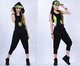Wholesale Dance Wearing - New Fashion Women Hip Hop Dance Costume Performance Wear Jazz Sports Jumpsuits