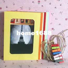 Wholesale Bedroom Suites - Free shipping Zakka 7 inch hanging rope clip photo frame photo paper wall 7 inch suite bedroom baby photos lovers friends gifts