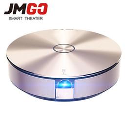 Proyectores de alta luminosidad online-Al por mayor JMGO G1S proyector LED, 1280x800, zoom digital 1: 2, de alta gama Android proyector HD, WiFi, Bluetooth Speaker Miracast Airplay