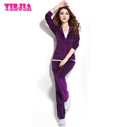 Wholesale Track Suits Plus Size Women - FG1509 Spring and Fall 2015 Women's Brand Velvet fabric Tracksuits, Velour suit women, Sport Track suit, Hoodies + Pants Plus Size