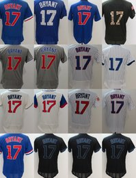 Wholesale Womens Blue White Shirt - 2017 Cheap Factory Outlet Mens Womens Kids Toddlers Chicago 17 Kris Bryant Jerseys Black White Grey Blue Green Baseball Shirts Jerseys
