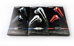 Wholesale Earphones Sms - Professional Mini mini SMS Street by 50 Cent Street with MIC Earphones for MP3 Player iPhone
