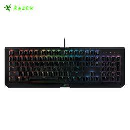 Wholesale X Razer - New Razer RGB BlackWidow X Chroma Standard Wired Gaming Keyboard Multimedia Function Ergonomics Numieric&Mechanical Keyboards