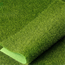 Wholesale Artificial Turf Greens - 15pcs Grass Mat Green Artificial Lawns 15x15cm Small Turf Carpets Fake Sod Home Garden Moss For Home Floor Wedding Decoration