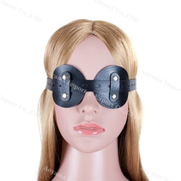 Wholesale Mask Leather Sex Free - Sex Product Dream Goggles Eyewear Eye Mask Bondage BDSM Eyepatch Real Leather Adult Sex Toys With Free Shipping