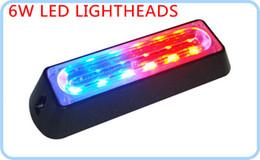 Wholesale External Blue Car Led Lights - High Intensity 6W LED surface external Lightheads,Car Grill warning lighs,Emergency lights,18 flash pattern,waterproof