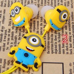 Wholesale Despicable Iphone 3d - lear Voice Cartoon In-ear Earphones Wired 3.5mm Headphone 3D Despicable Me Minions Model Headset For Iphone 6 MP3 MP4 Cell Phone