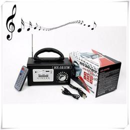 Wholesale Mini Altavoz Hifi Bluetooth - Wholesale- hy-101 Portable Mini Speaker HIFI USB TF FM Radio Loudspeaker Stereo Music Mp3 Player Altavoz Sound Remote Control Rechargeable
