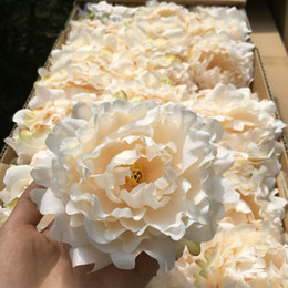 Wholesale flower displays - artificial flowers Silk Peony Flower Heads Wedding Party Decoration supplies Simulation fake flower head home decorations wholesale 15cm
