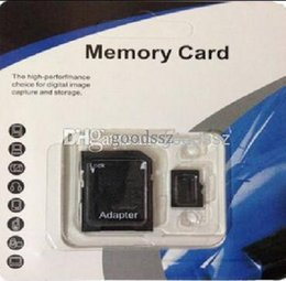 Wholesale Memory Cards For Tablets - 100% Real 4GB Micro SD Card Full 4GB Memory Card TF Card Enough 4GB with Adapter + retail package for Cell Phone MP3 4 5 Tablet PC 5pcs lot