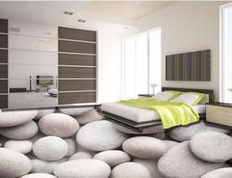 2019 ciottoli bianchi Clear 3d-flooring living room temi foto wallpapers Ciottoli bianchi 3d murales per il pavimento carte da parati decorazioni per la casa 3d sconti ciottoli bianchi