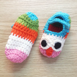 Wholesale Wholesale Mary Janes - Wholesale-2015 New Mary Janes Slippers Baby shoes Crochet owl shoes Houseshoes