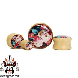 Wholesale Tunnels 24mm - 2015 hot sale fashion fantastic guage Wholesale beautiful crok brown wood ear plugs and tunnels piercing Body Jewelry size 8-24mm.