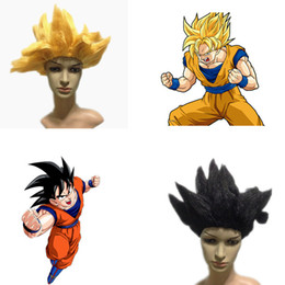 Wholesale Dragon Wig - Best selling synthetic dragon ball Son Goku cosplay wig High Quality