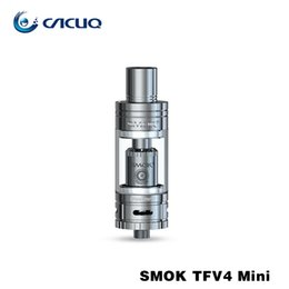 Wholesale Double Compact - Original Smok TFV4 mini Tanks Atomizer Kit Compact Tank for Xcube 2 mini Double-layered Drip Tip