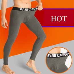 Wholesale Ropa Interior Pants - Ropa Interior Hombre Calzoncillos Marcas New Men Cotton Long Johns Leggings Winter Warm Pants Thick Thermal Underwear Tights