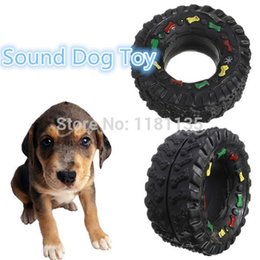 Wholesale Toy Rubber Tyres - 5pcs lot Pet Vocalization Rubber Tyre Toy Vocalization Ring Ball Multicellular Dog Toys Pet Toy Free Shipping