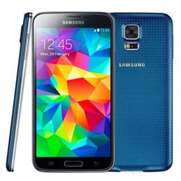 Wholesale S5 Cellphone - 100% Refurbished Original Samsung Galaxy S5 i9600 G900F G900V G900A G900T G900V Quad Core 2GB 16GB 4G LTE