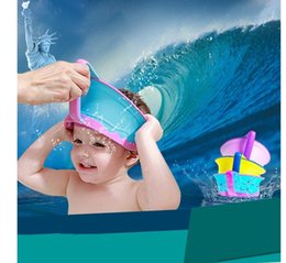 Wholesale Shower Shield For Kids - New Adjustable Baby Kids Shower Cap Protect Shampoo Hair Wash Shield for Children Infant Waterproof Cap