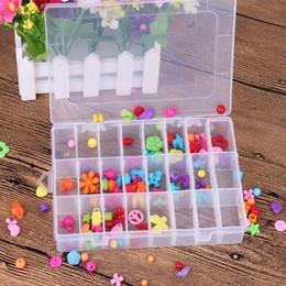 chiari cassonetti di contenitore in plastica Sconti La nuova piccola scatola della scatola di stoccaggio di plastica del compartimento di 24 chiari per il contenitore dei giocattoli degli orecchini dei gioielli libera il trasporto