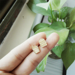 Wholesale Festival Foods - New fashion 2016 hamburgers and French fries stud earrings, lovely earrings wholesale food festival best gift free shipping women