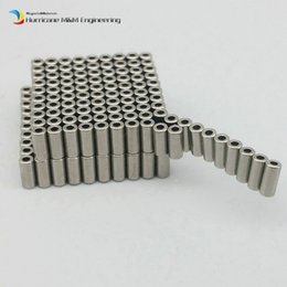 Wholesale micro rotor - 1 Pack Grade N48M Micro Rotor NdFeB Magnet Ring Diameter 2.6x1.3x5.6 mm Tube Diametrically Magnetized Neodymium Permanent Sensor Magnets