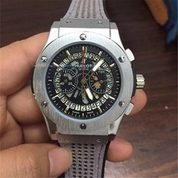 Wholesale Needle Clock - HUBT brand Men Watch full function High quality Six needle fashion men luxury Watches AAA Relogio clock HB wristwatch
